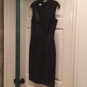Escada Black Leather sheath Dress